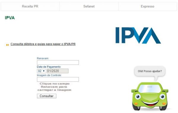 Consulta IPVA 2020 PR / SEFA / DETRAN PR