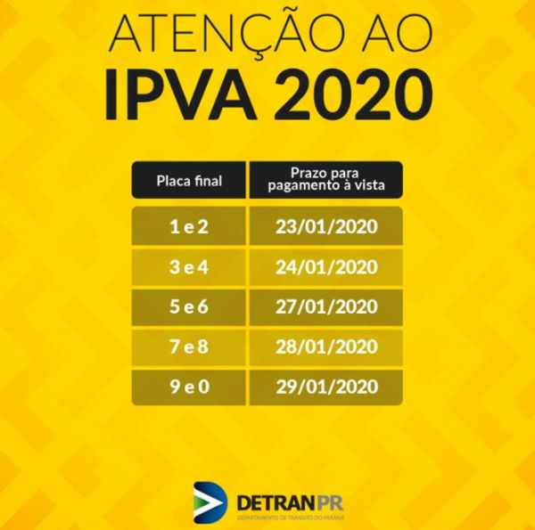 Consulta IPVA PR 2020 / SEFA / DETRAN PR